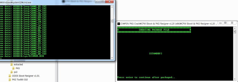 pkg 만들기(CFW Eboot & PKG Resigner) | PSX of urdandy